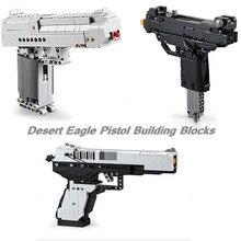 Désert aigle pistolet blocs de construction MK23 pistolet UZI mitraillette briques Police SWAT jouets pour enfant pistolet brique jouets enfants cadeaux