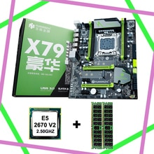 Remise HUANAN ZHI X79 carte mère avec CPU avec emplacement M.2 4 emplacements RAM Intel Xeon E5 2670 V2 2.5GHz RAM 16G (2*8G) DDR3 1600 RECC
