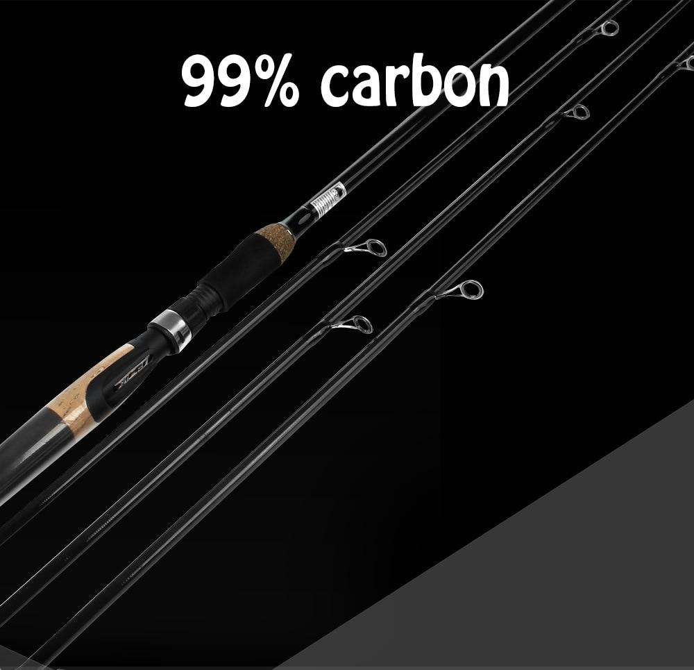 JUMITU 2.1M 2.4M 2.7M Bait Fishing Rod Throwing Fishing Rod Bait W. 10-30g 12-25Lb 4-Section Rod 65cm Bag Tube enlarge
