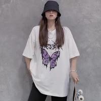 womens t shirts butterfly printed tshirt harajuku shirt oversized t shirt summer tshirt streetwear top t shirt vintage clothes