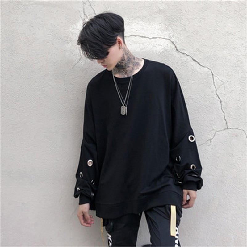 Fashion Punk Men Hoodies Tops Streetwear hip-hop Clothes Costumes Sweatshirts Male Clothing