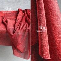 shiny red stretch fabric diamond sequins diy patchwork party home decor stage clothes skirt wedding dress designer fabric