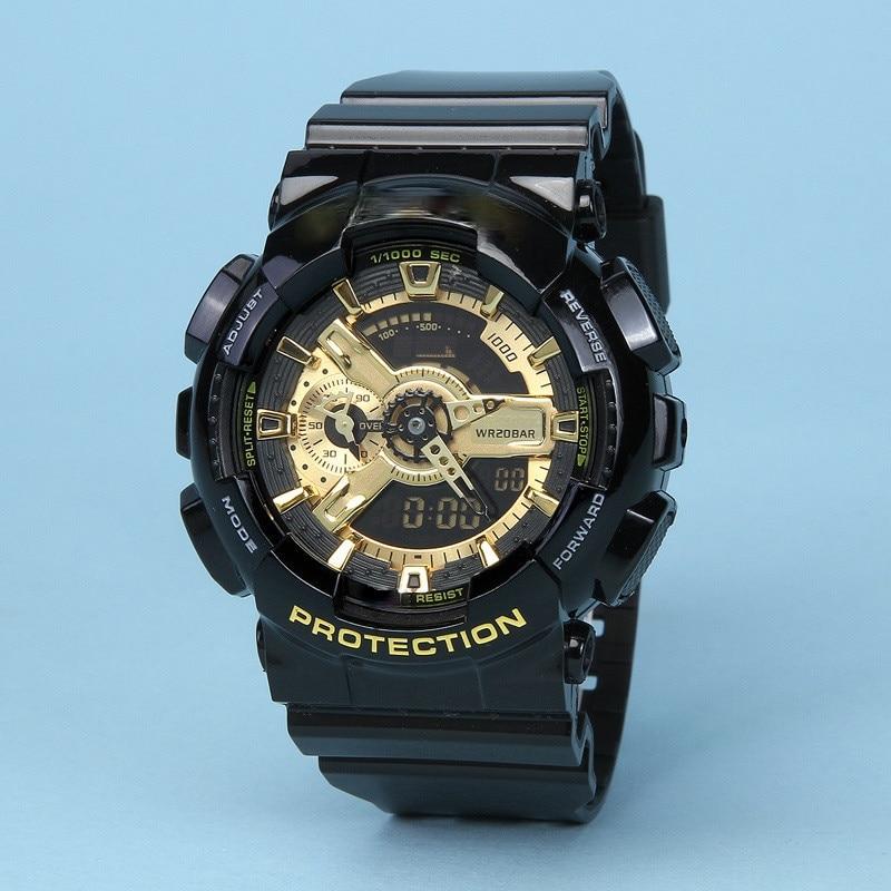 Luxury Brand Men's Digital Watches Luminous Silicone Band Chronograph Students Sports Wristwatch Wat