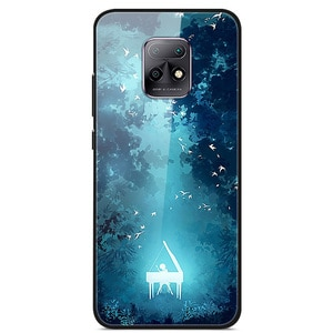 For Xiaomi Redmi 10X Phone Case Tempered Glass Case Back Phone Cover Series 2