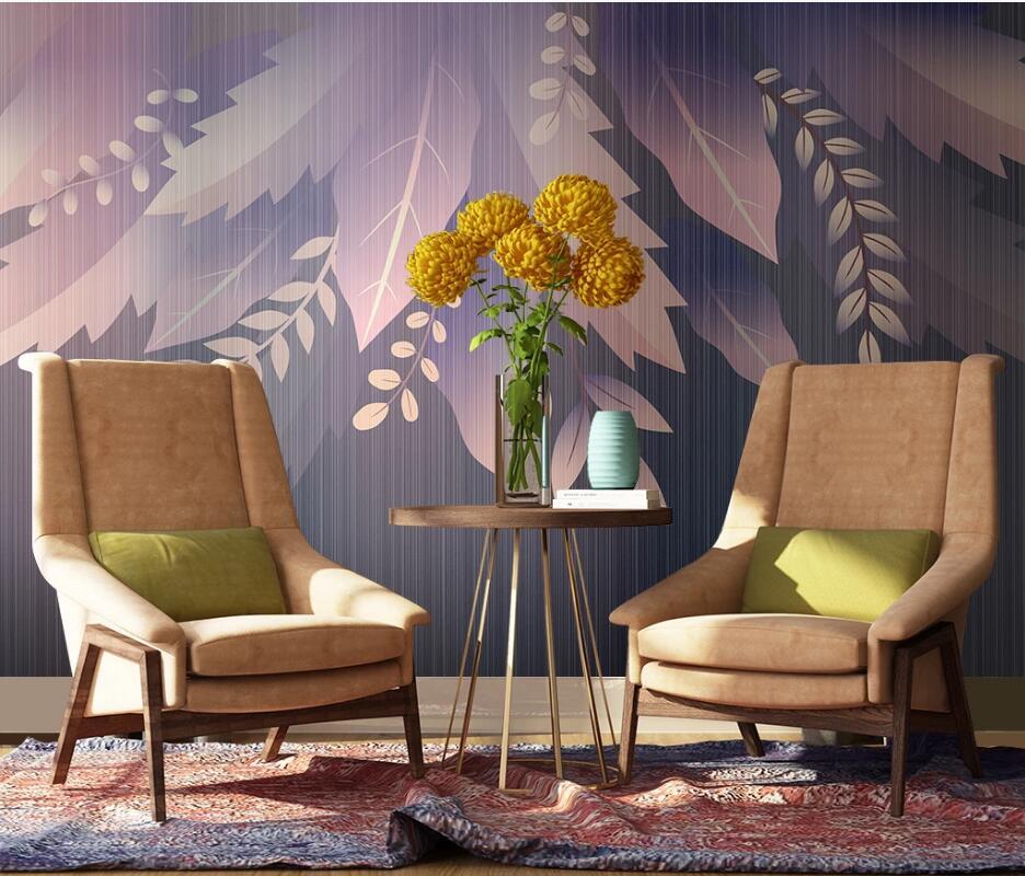 3D-обои AINYOOUSEM, современные красивые обои с фоном в виде листьев, настенные бумажные обои, 3D обои, Настенные обои
