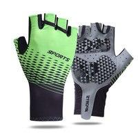 Перчатки гелевые противоударные для мужчин и женщин, спортивные митенки с закрытыми пальцами для езды на велосипеде, тренажерного зала, фит...