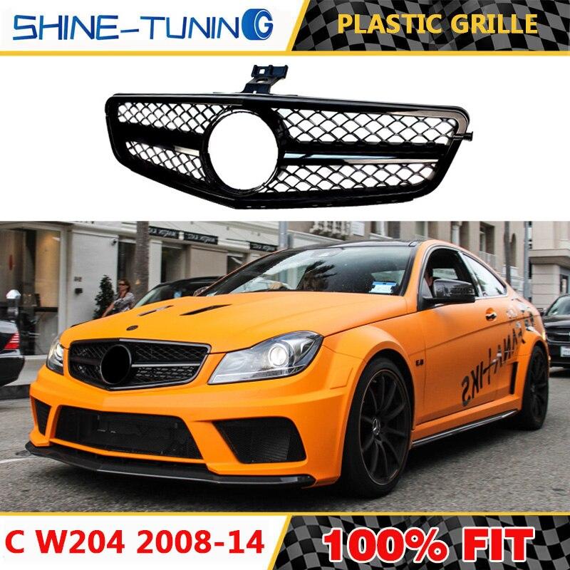 Adecuado para Clase C W204 C63 adecuado para amg negro mate c200 c180 c300 c230 c280 c350 c63 estilo con emblema