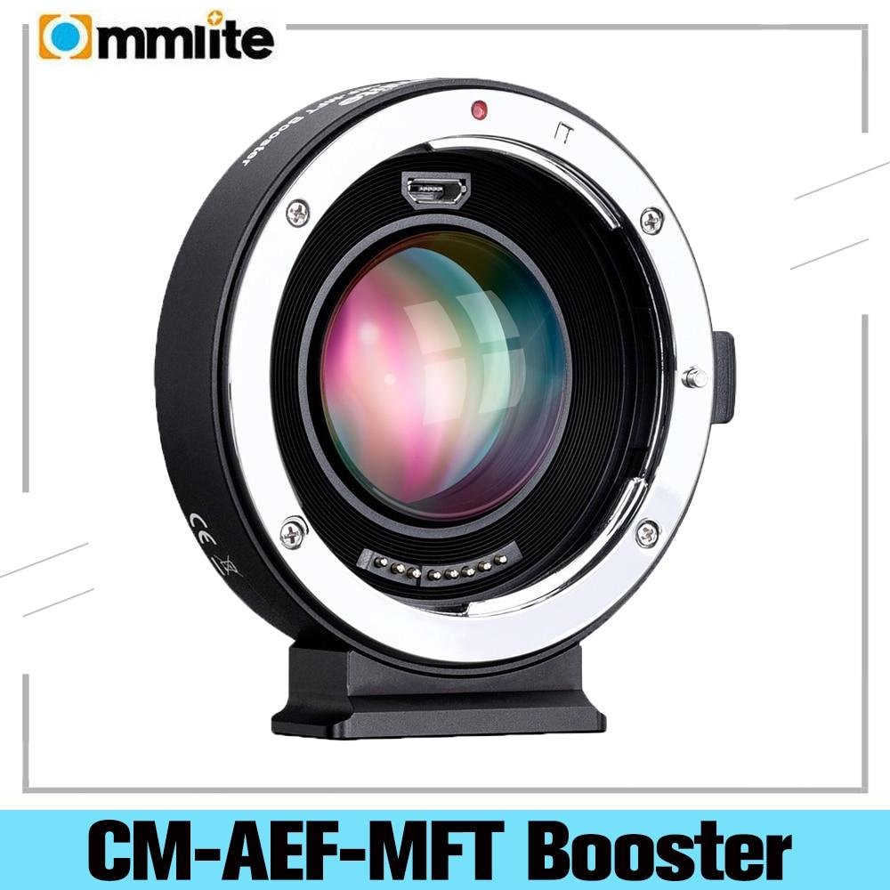 COMMLITE CM-AEF-MFT الداعم 0.71X البؤري المخفض الداعم AF عدسة جبل محول لكانون EF عدسة ل باناسونيك/أوليمبوس M4/3 كاميرا