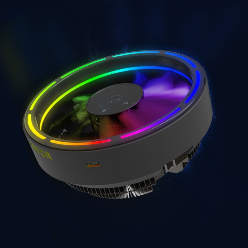 122mm LED Ultra silencioso ordenador PC ventilador con cubierta apertura fina RGB 12V Cpu disipador enfriador Master ventilador de refrigeración DC 12V 3P conector