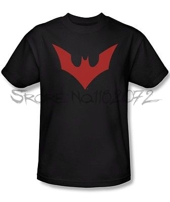 Camiseta con licencia de Batman Beyond TV Show, nuevo Logo de murciélago, camiseta de marca de verano para hombre, tops de algodón para hombre