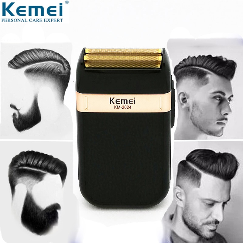 Kemei Electric Shaver for Men Twin Blade Waterproof Reciprocating Cordless Razor USB Rechargeable Shaving Machine Barber Trimmer enlarge