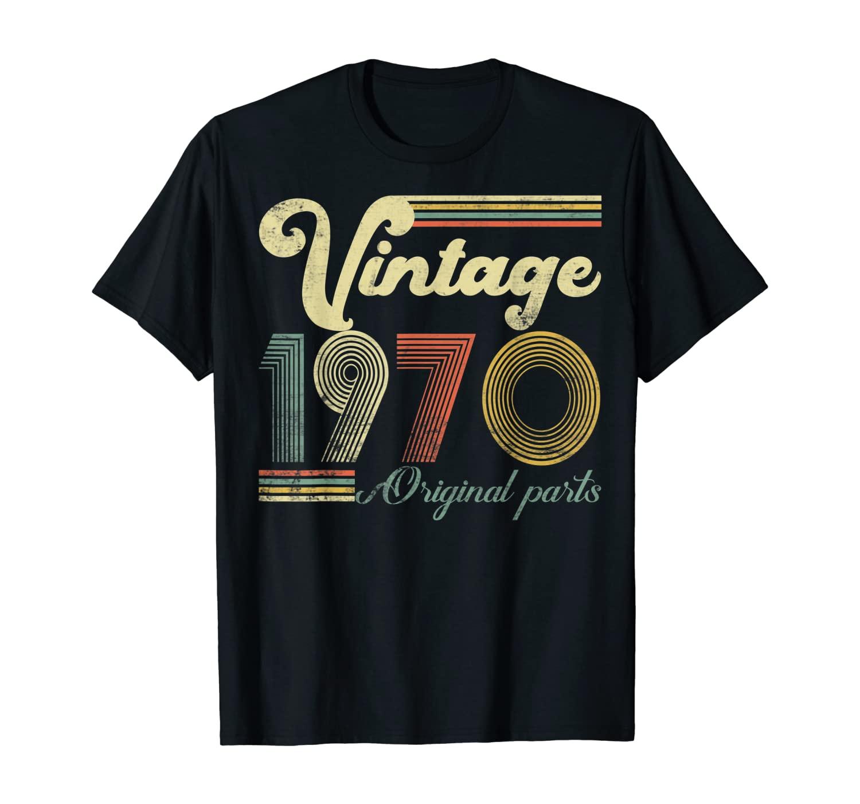 50 anos de idade-feito em 1970-vintage 50th aniversário camiseta