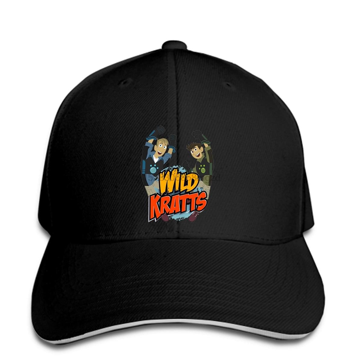 Hombre salvaje Kratts Humor deportes negro gorra con Cierre trasero mujer sombrero pico