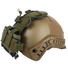 Pochette tactique MK2 batterie étui pour casque camouflage chasse Airsoft casque batterie sacs 2