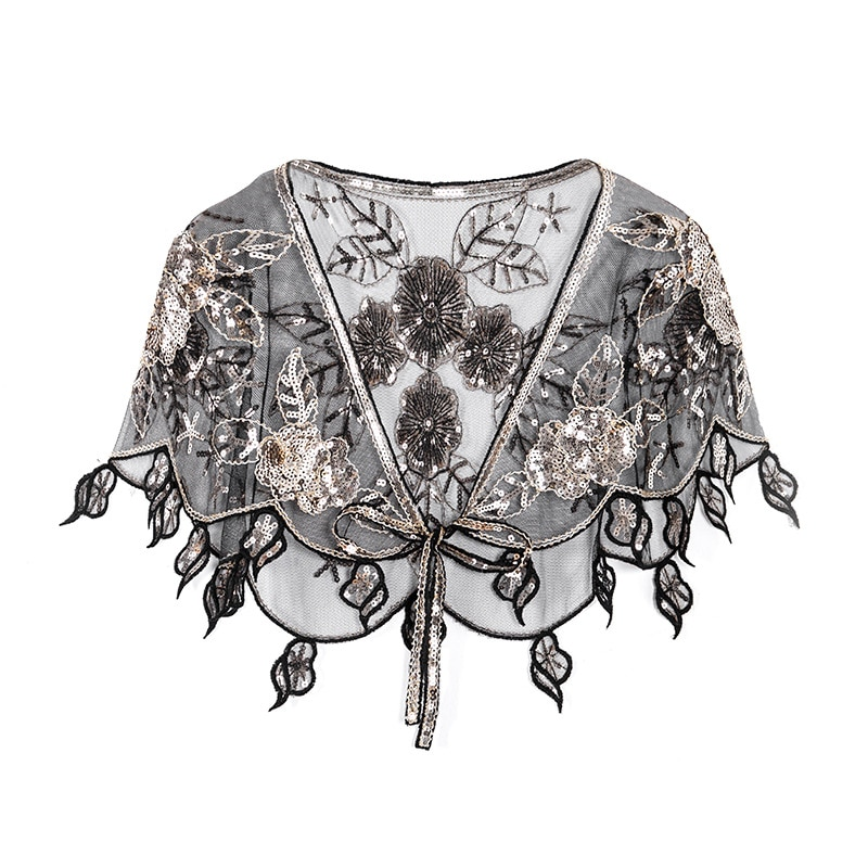 2019 de plata lentejuelas envolturas de mujer novia capas chal de noche elegante fiesta boda Bolero cabo chaqueta Accesorios