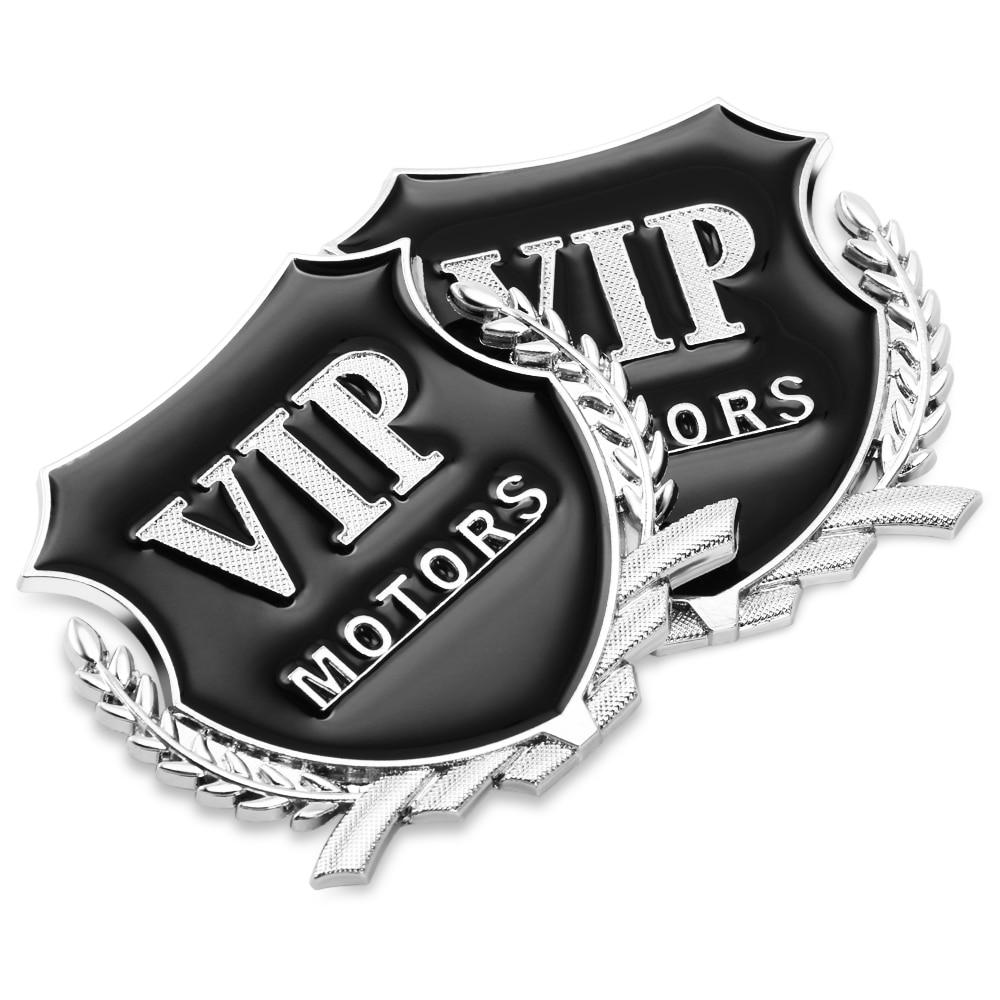 3D Metal motor VIP pegatina emblema para el coche para coche inteligente passat b4 saab 9-3 volkswagen tiguan skoda fabia opel insignia Accesorios