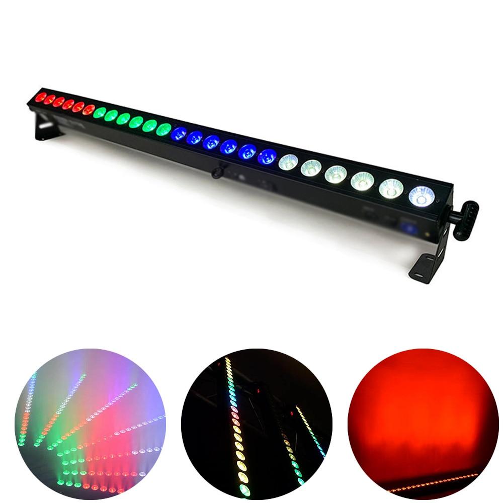 LED 24X4W Wall Wash Light RGBW 4IN1 Stage Effect Lighting Bar Light Beam Strobe 2IN1 Led Flash Lamp DJ Disco Party Light DMX512