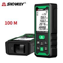 Sndway roulette électronique télémètre laser 40m 50m 70m 100m 120m télémètre laser numérique trena laser mesure télémètre