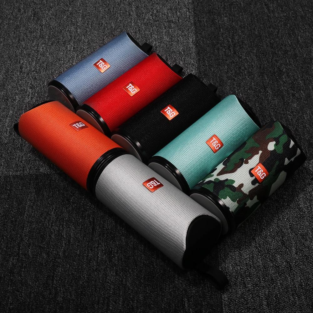 TG113 Coluna 3D Baixo Stereo Speaker Portátil Bluetooth Sem Fio À Prova D Água Alto-falantes Ao Ar Livre Subwoofer Altifalante FM AUX USB TF