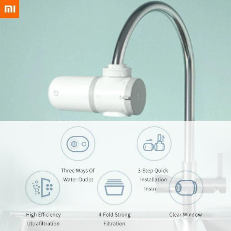 Xiaomi Mijia-منقي مياه الصنبور ، دورق ، صنبور مطبخ ، فلتر كربون نشط ، فلتر بديل للبكتيريا والصدأ