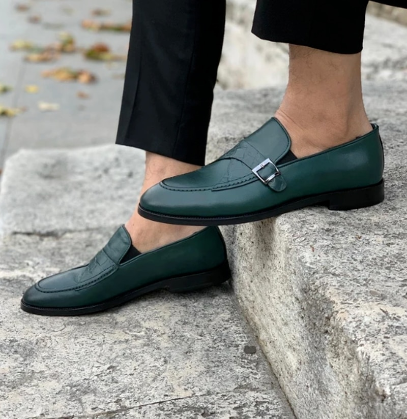 Men Dress Shoes Casual Business Fashion Pu Leather Low Heel British Style Classic Slip-on Loafers  Z