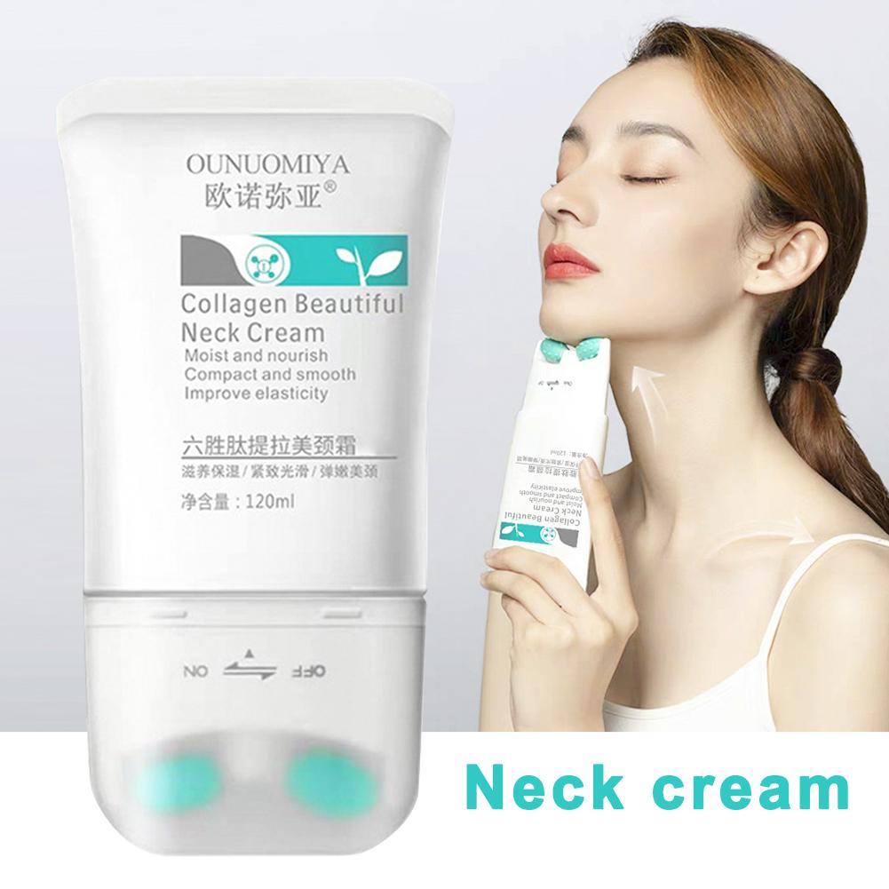 Doble cuello tipo V crema 120g masajeador nutrir el cuidado del cuello para decolorar el cuello arruga elevación reafirmante iluminar el cuello máscara