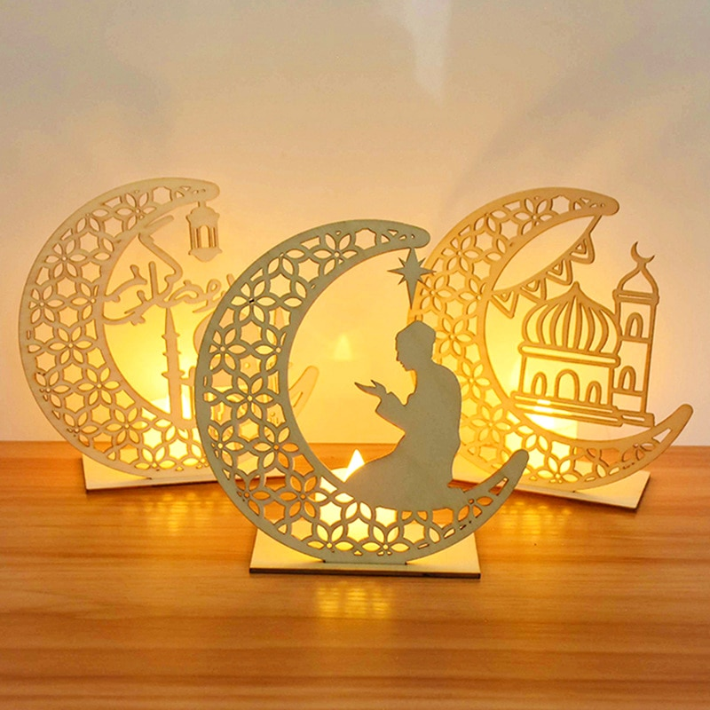Colgante de madera con luces LED, decoración para el hogar, evento, decoración...