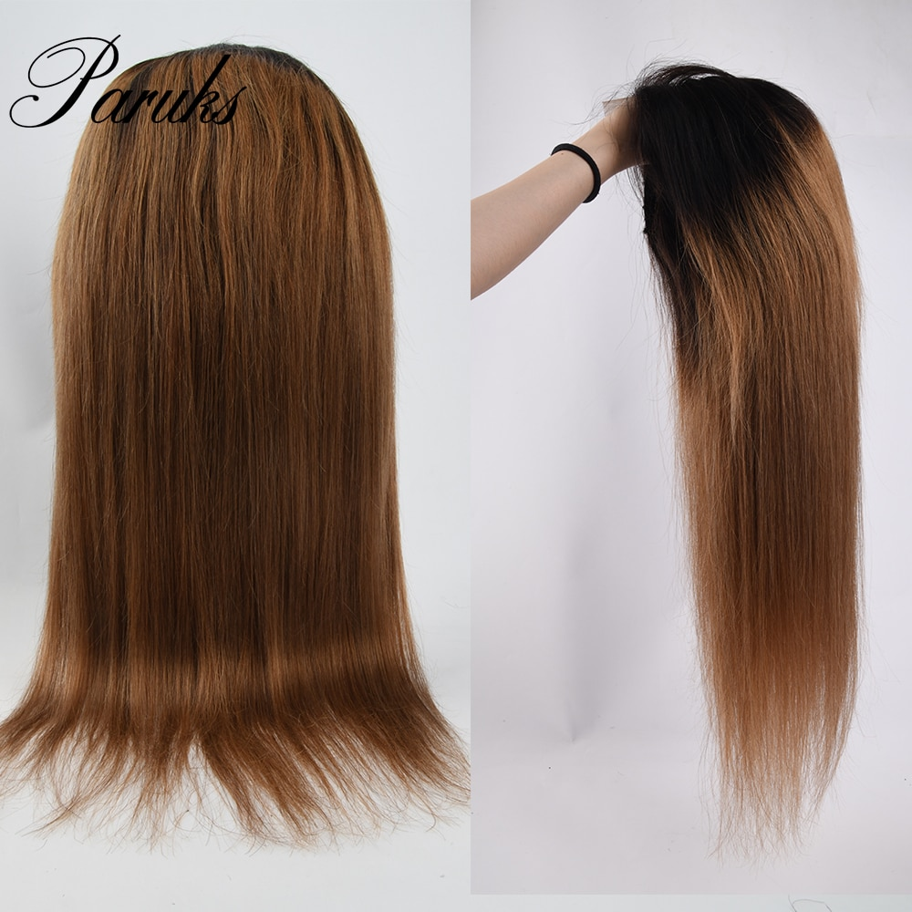 Paruks Brazilian Straight Lace Front Wig Human Hair Wigs 4x4 Lace Closure Hair Wigs 100% Human Remy Hair Wigs Color T1B/30