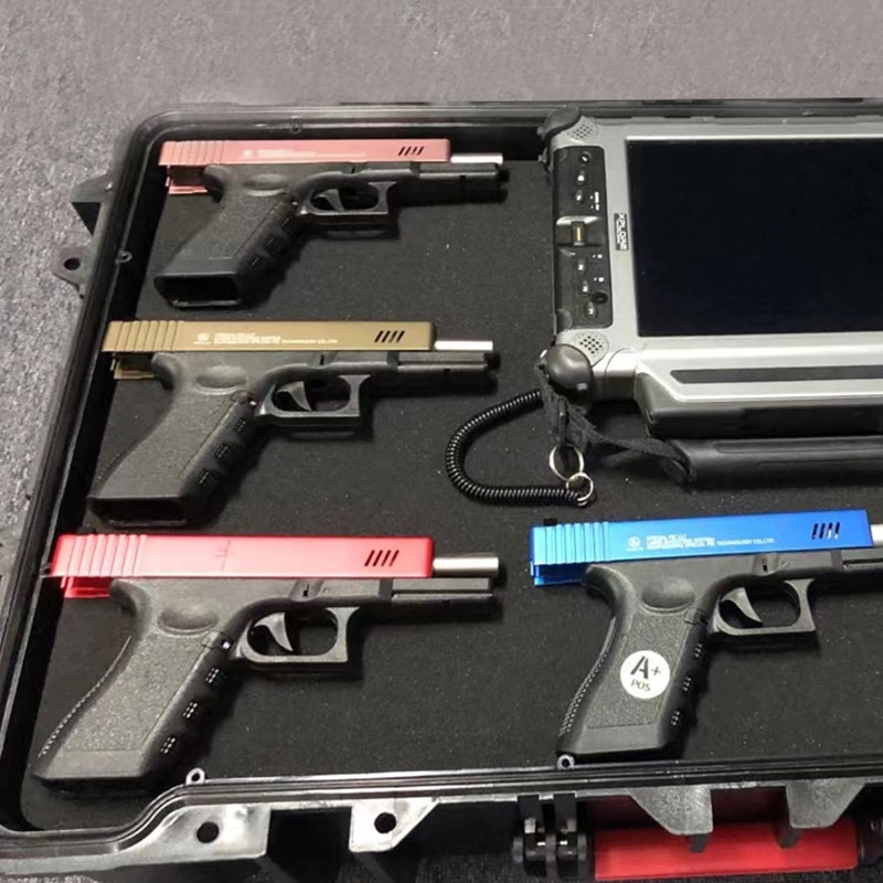 For IPSC IDPA Training Recoil Force Laser Optics Pistol Rechargeable 17 Pistol Laser Simulated Gun Shooting Simulator