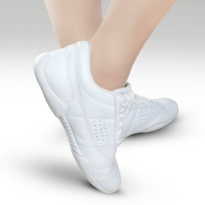 Aerobics Training Sports Shoes Woman Men Children Leather Upper Non-Slip Soft  Bottom Modern Dancing