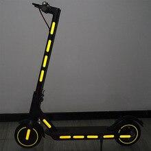 Bande autocollante réfléchissante de Scooter électrique pour ninebot max G30 Xiaomi M365/pro autocollants de style de lumière réfléchissante de scooter de coup de pied