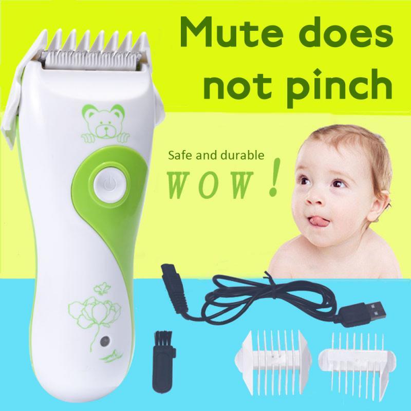 Cortadora de pelo eléctrica para bebé, cortadora de pelo recargable de bajo nivel de ruido, afeitadora Máquina para cortar Cabello, peines, herramienta de corte para niños