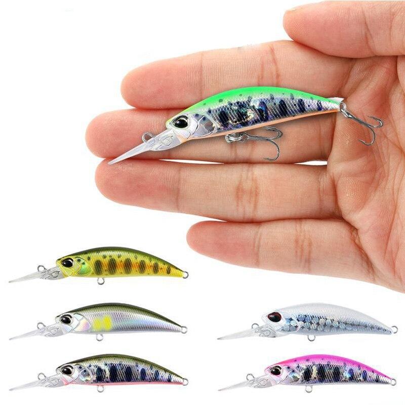 1 Uds mini señuelo 65MM/5G Wobbler Minnow señuelo para pesca Wobbler Isca Artficial cebo duro para cebo twitching señuelo