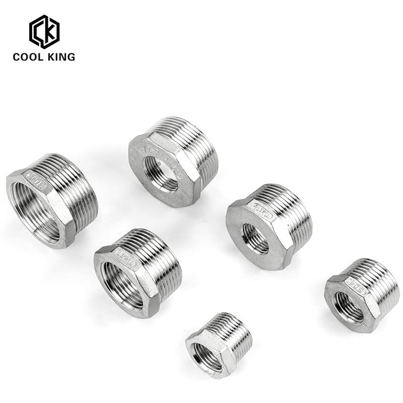 "CK 1/8 ""-1-1/4"" SS304 accesorios reductores de tubería de acero inoxidable Hex buje reductor rosca macho a hembra DN6-DN50 accesorio de tubería"
