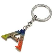 ARCHE Überleben Entwickelt Schlüsselanhänger Anhänger Halskette Bunte Brief Schlüssel Ketten Chaveiro Auto Schlüssel Ringe Souvenir Spiel Schmuck
