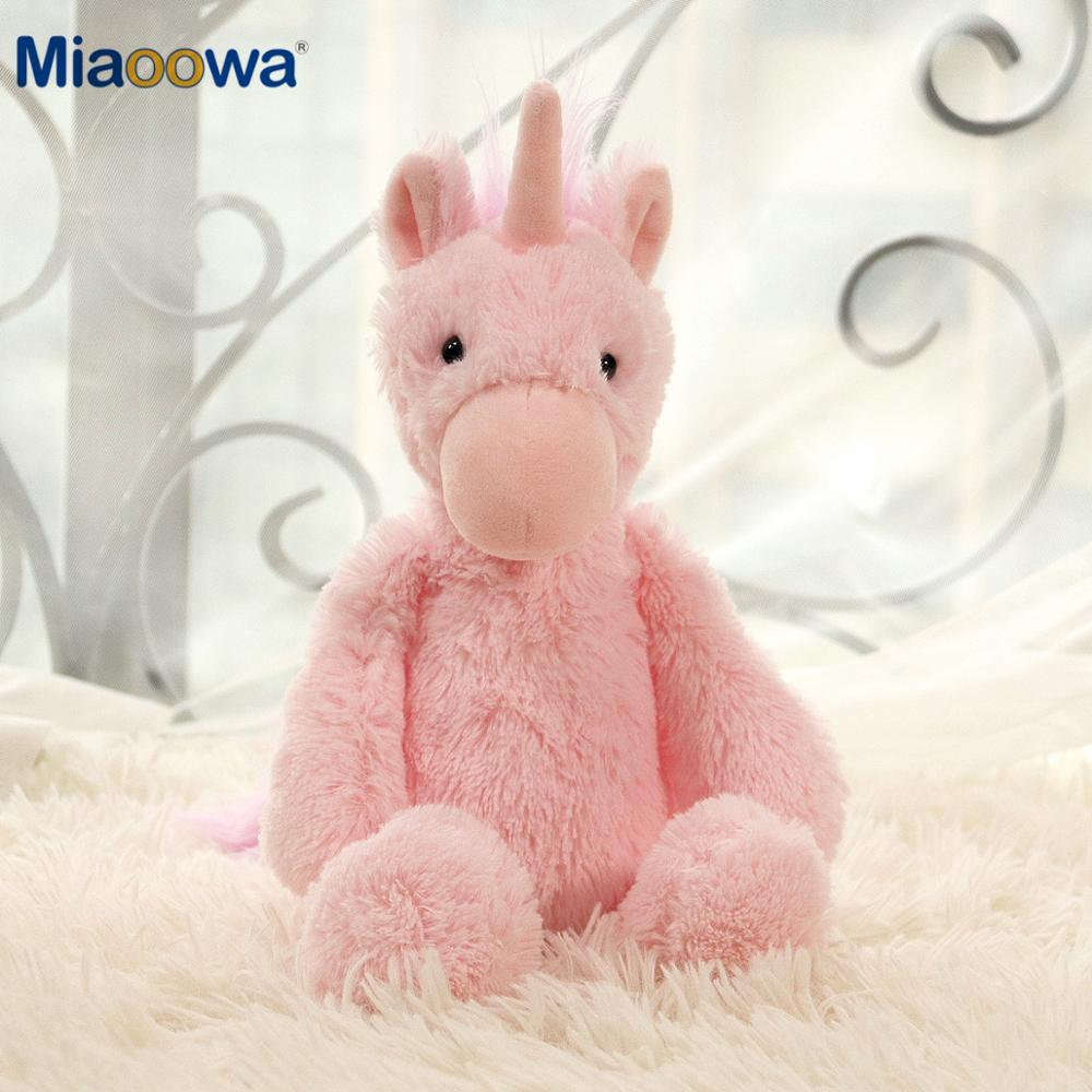 30/40cm adorable unicornio rosa de peluche muñeca de peluche Kawaii unicornios de juguete suave para regalo de cumpleaños de los niños para los amantes de las niñas presentes