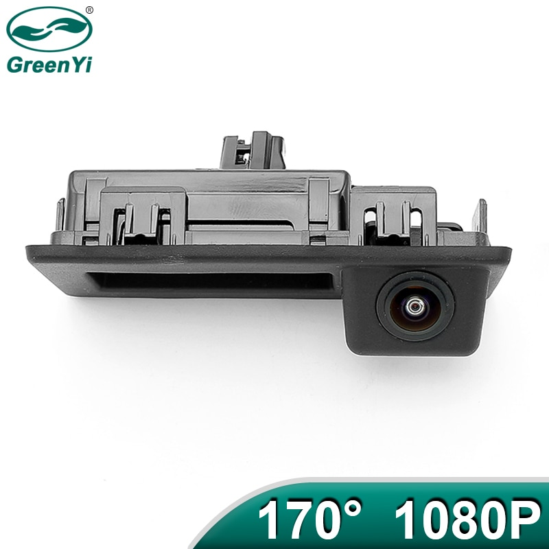 Greenyi 170 graus 1920x1080 p ahd veículo câmera de visão traseira para audi a4l vw teramont C-TREK touran l tiguan tournamen skoda carro