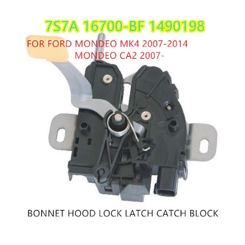Envío Gratis capucha capó cerradura pestillo bloque CATCH para FORD MONDEO MK4 2007-2014 MONDEO CA2 2007-1490198 7S7A-16700-BF