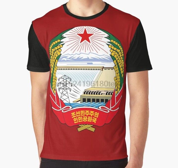 Todo impreso 3D camiseta hombres divertido T emblema para camisa de Corea del Norte camiseta gráfica