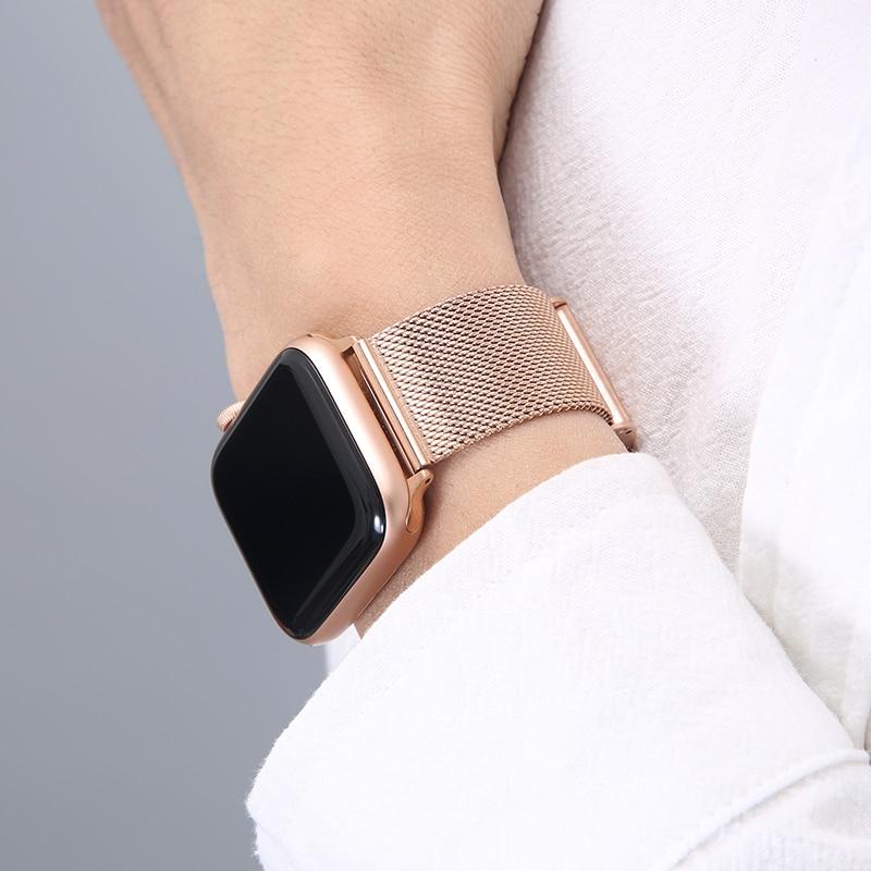 for apple watch band 44mm 40mm 38mm 42mm metal bracelet stainless steel strap for apple watch series se 6 5 4 3 2 1 watchband Metal Strap for Apple Watch 6/SE/5/4/3/2/1 38mm 40mm Stainless Steel Watch Band for iwatch series SE/6 42MM 44MM Bracelet Strap