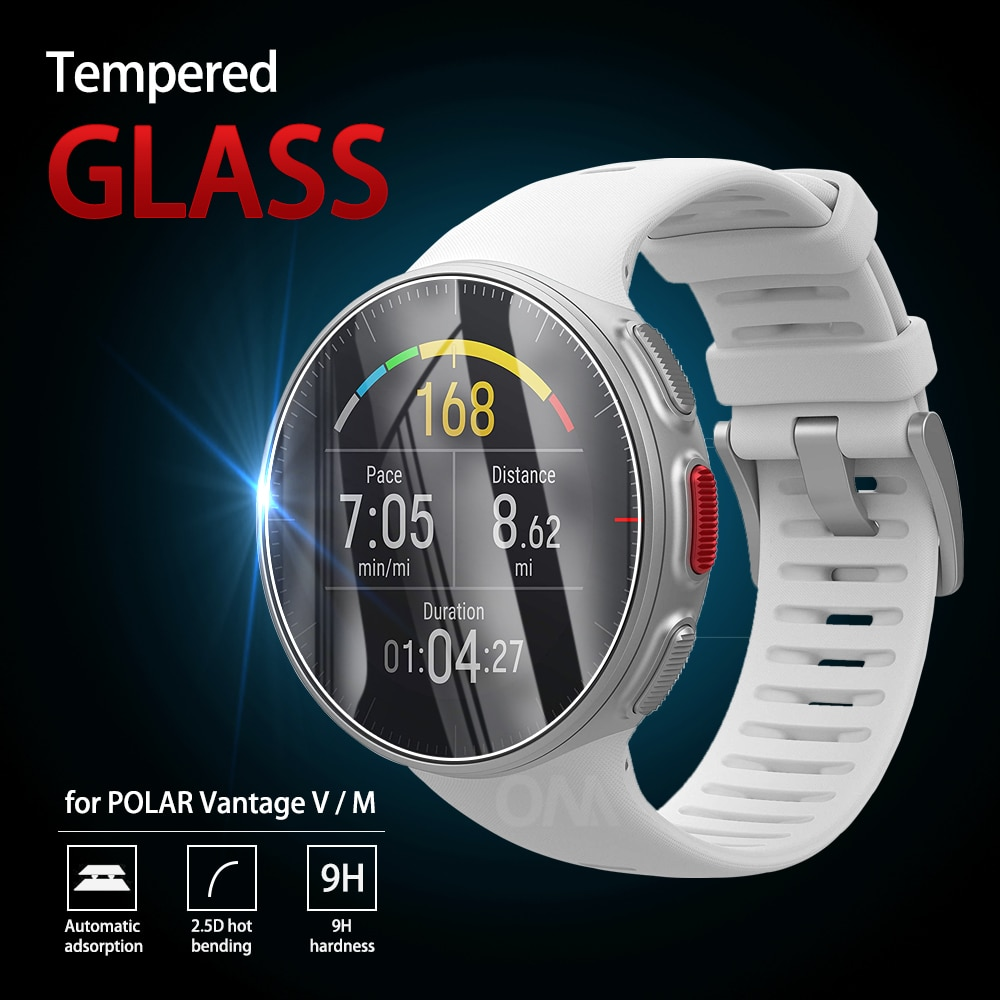 5Pcs 9H Premium Tempered Glass For POLAR Vantage V smart watch Screen Protector Film Accessories For