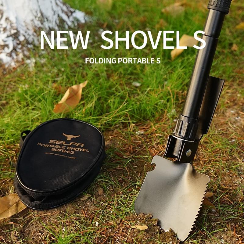 Outdoor Camping Outdoor climbing multifunctional portable trumpet mini folding shovel fishing camping shovel shovel shovel
