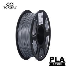 TOPZEAL Silber Farbe PLA 3D Drucker Filament 1,75mm 1KG Spool 3D Filament PLA Kunststoff für 3D Druck Materialien filament