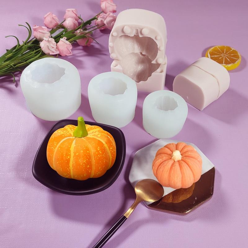 Силиконовая форма в виде тыквы для Хэллоуина, форма для пасхальных муссов, форма для выпечки «сделай сам», силиконовая форма 3d для изготовле...