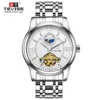 Full Stainless Steel Men Watch Fashion Moon Phase Male Automatic Mechanical Clock Sports Waterproof Man Tourbillon Wrist Watches