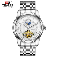 Full Stainless Steel Men Watch Fashion Moon Phase Male Automatic Mechanical Clock Sports Waterproof