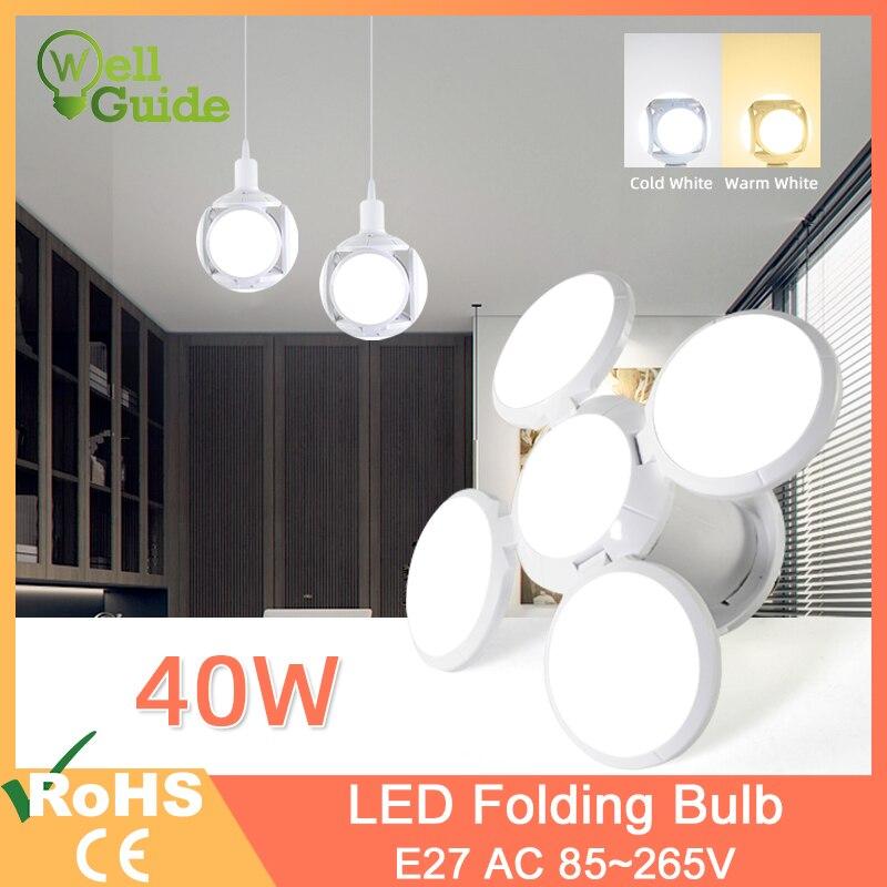 Светодиодный светильник E27 40 Вт 9 Вт AC 85-265 в холодный белый теплый белый светодиодный светильник Bombilla Точечный светильник Лампада светодиодный светильник футбол НЛО лампа для дома