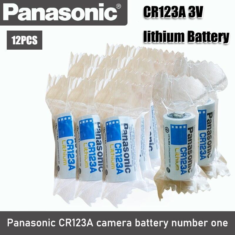 Bateria preliminar seca original nova da bateria de lítio 3v cr123 cr 123a cr17345 16340 cr123a de 12 pces para o medidor da câmera