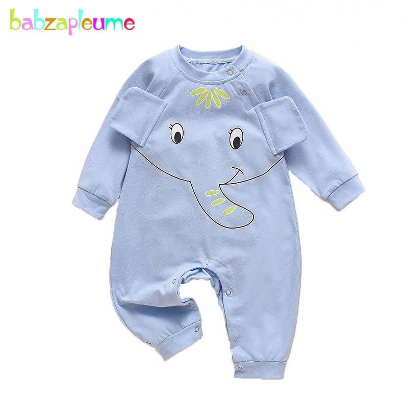 Frühling Baby Body Neugeborenen Kleidung Cartoon Niedlichen Elefanten Lange Hülse Baumwolle Infant Jungen Mädchen Overall Kleinkind Kleidung BC1022-1