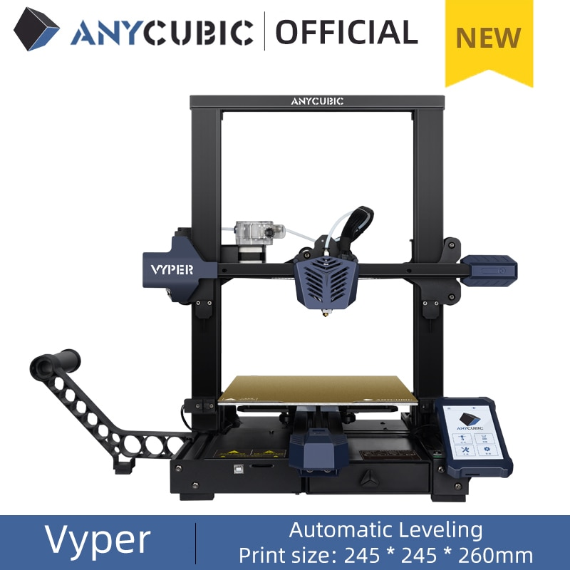 ANYCUBIC Newest FDM 3D Printer, Vyper, Auto-leveling 3D printer With 245 * 245 * 260mm Print Size Automatic Leveling 3D Printing